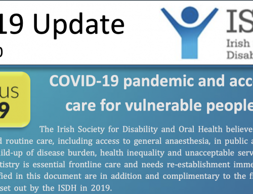 Re-establishing Special Care Dental Services in Ireland- Position Statement